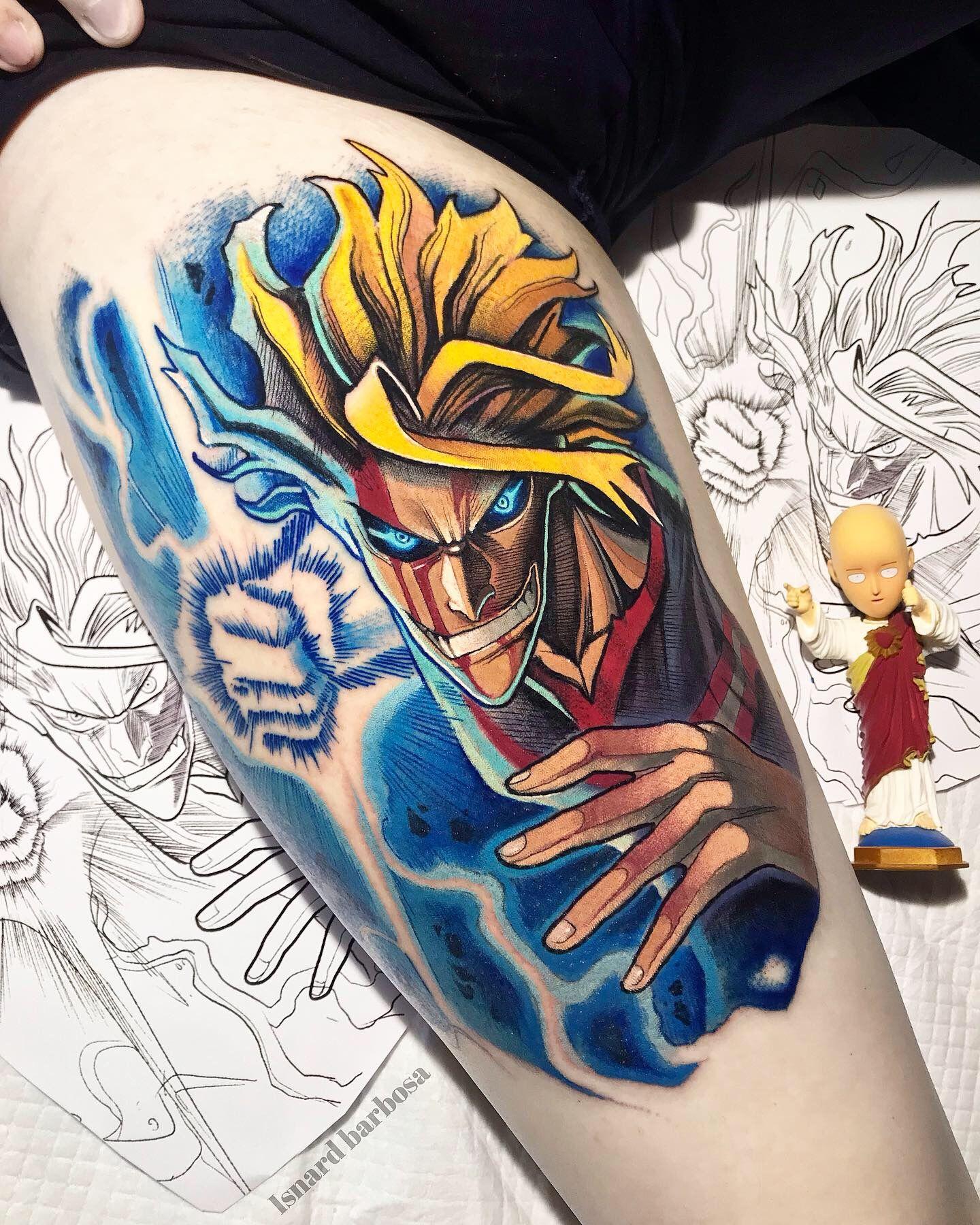 All might my hero academia tattoo artists near me anime