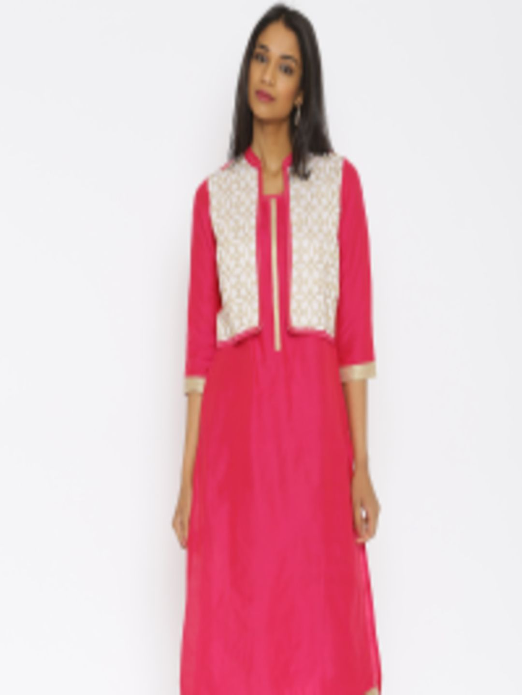 0c5a7a36b12 Buy RANGMANCH BY PANTALOONS Pink Kurta - Kurtas for Women 1742799 ...