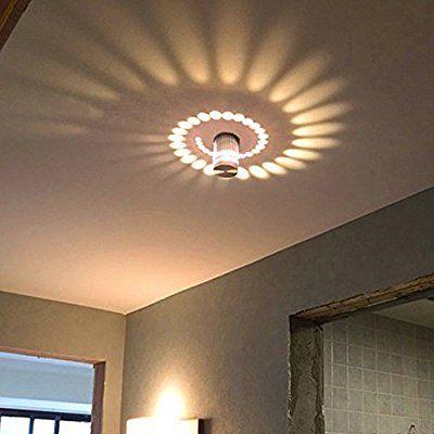 Coocnh Applique Murale Interieur LED Effet Moderne 3W Blanc Chaud En  Aluminium Lampe De Mur Decorative