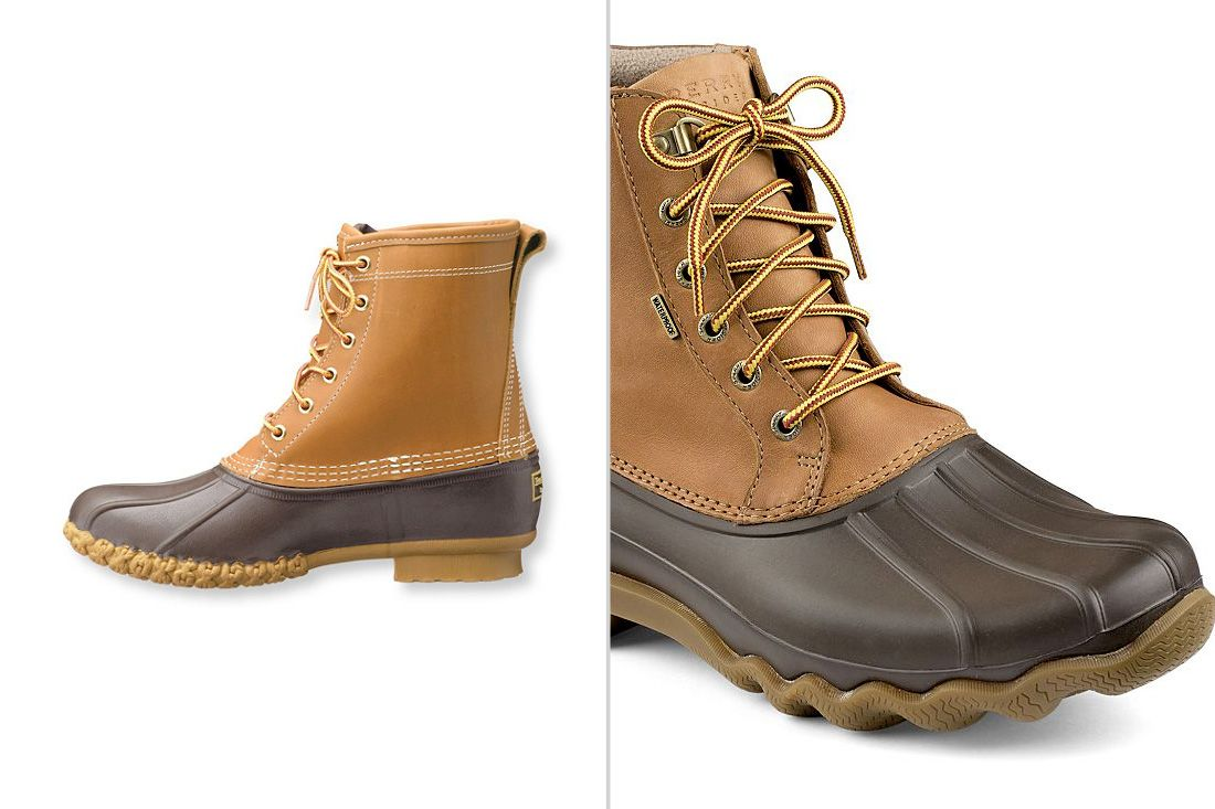 2a410f82de1 Sperry vs LL Bean Duck Boots Comparison