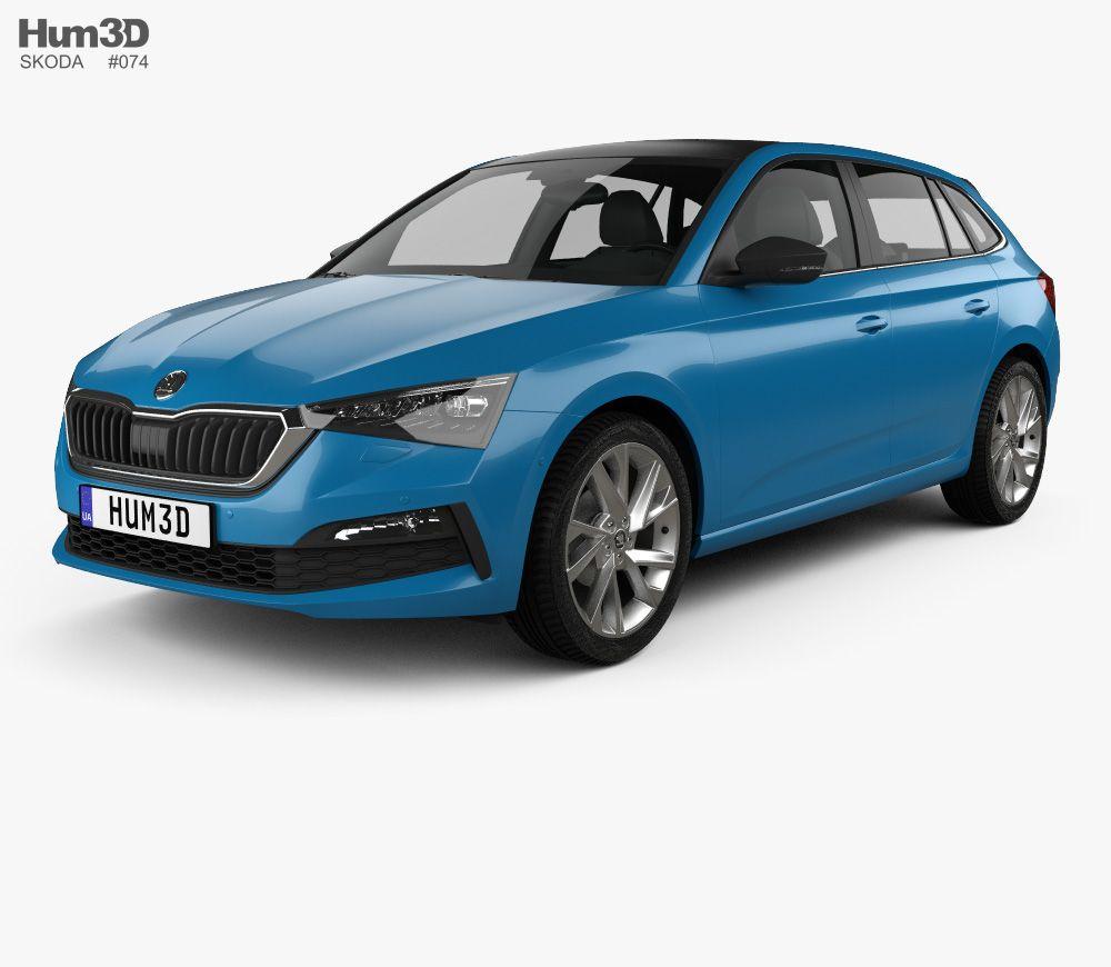 3d Model Of Skoda Scala 2019 Car 3d Model Model Car