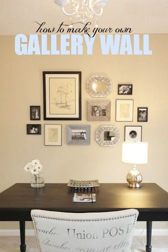 How To Make Your Own Gallery Wall For The Home Decoracion De