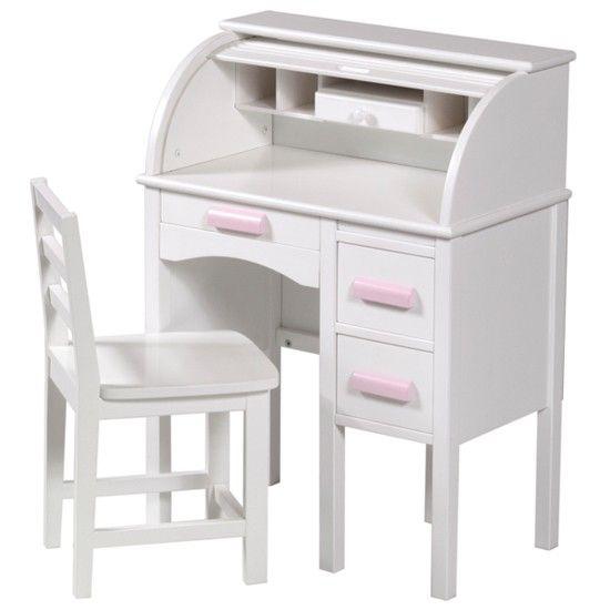 Guidecraft Jr Rolltop Desk In White From Kid S Play Childrens Desks Housetohome