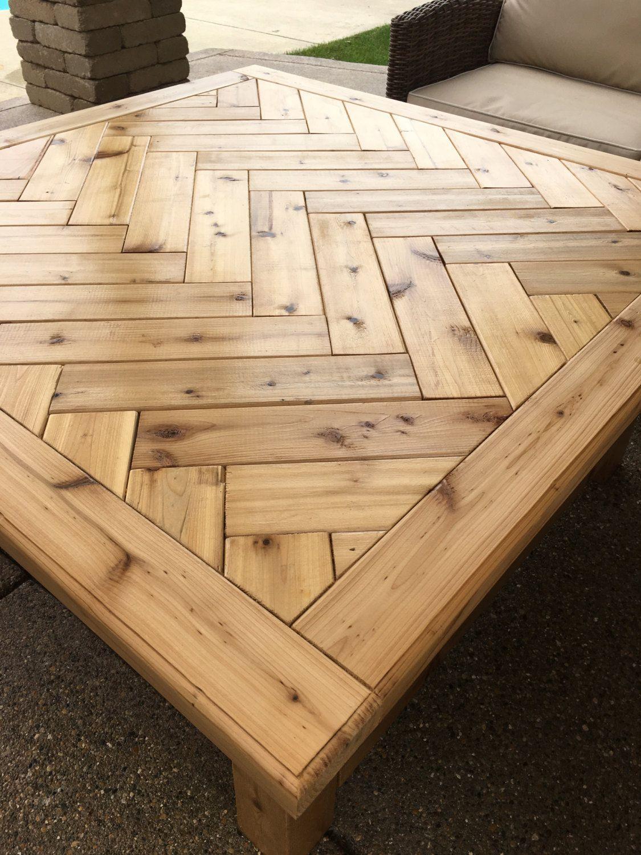 Rustic Cedar Coffee Table Etsy In 2019 Wooden Pallet Furniture
