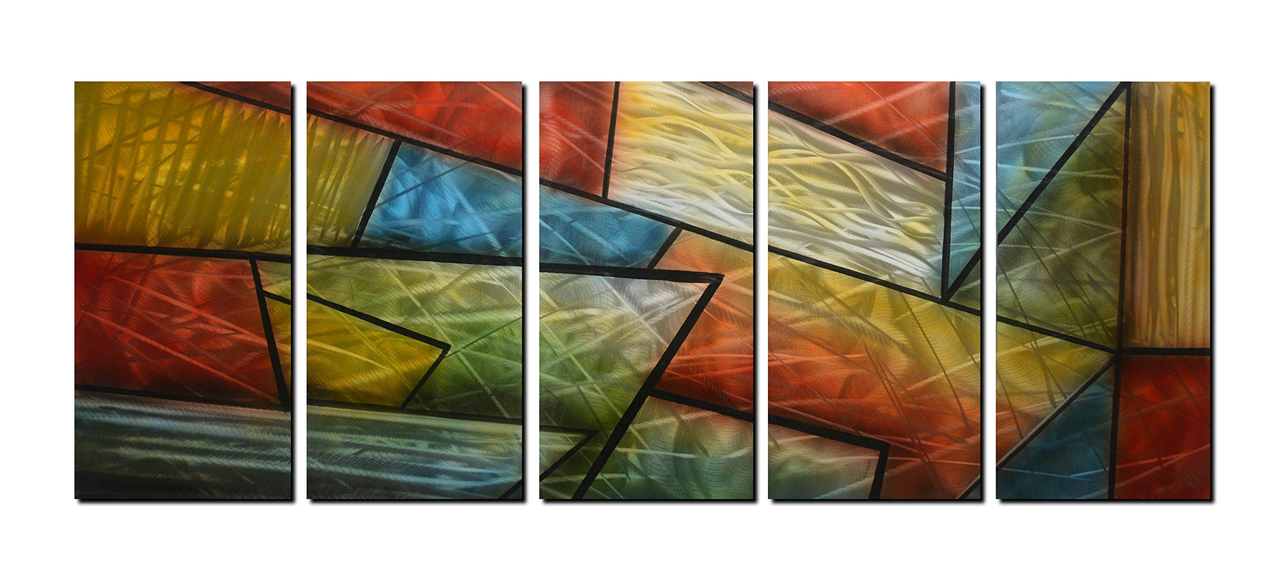 Winpeak art multicolored aluminum metal wall art abstract picture