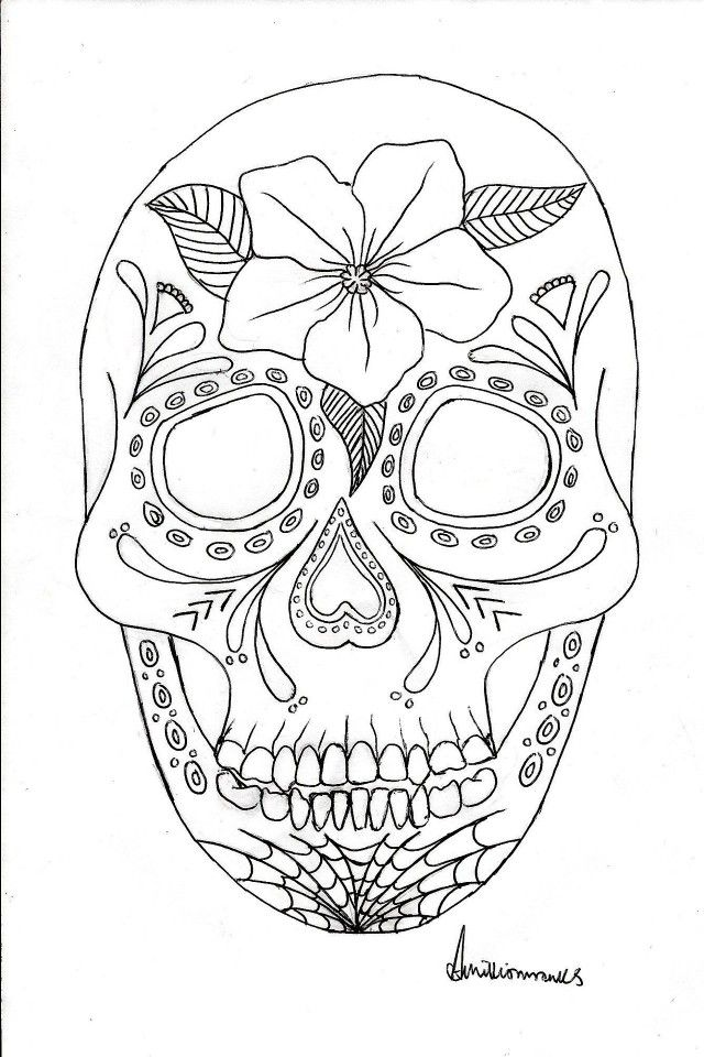 Coloring Pages Astounding Day Of The Dead Coloring Pages Picture ...