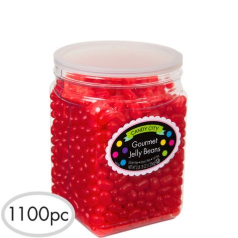 Red Jelly Beans 1024pc - Party City Candy Bar Pinterest Jelly - hello kitty halloween decorations