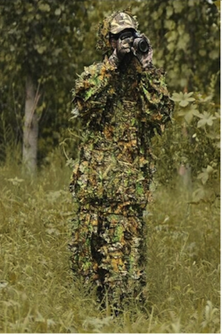 6dd0602f6fa57 Woodland Camouflage clothing 3D jungle Hunting Hide Leaf Ghillie Suit