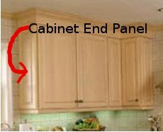 Kitchen Cabinet End Panel Installation Kitchen Cabinets Kitchen Cabinets End Panels Kitchen Photos