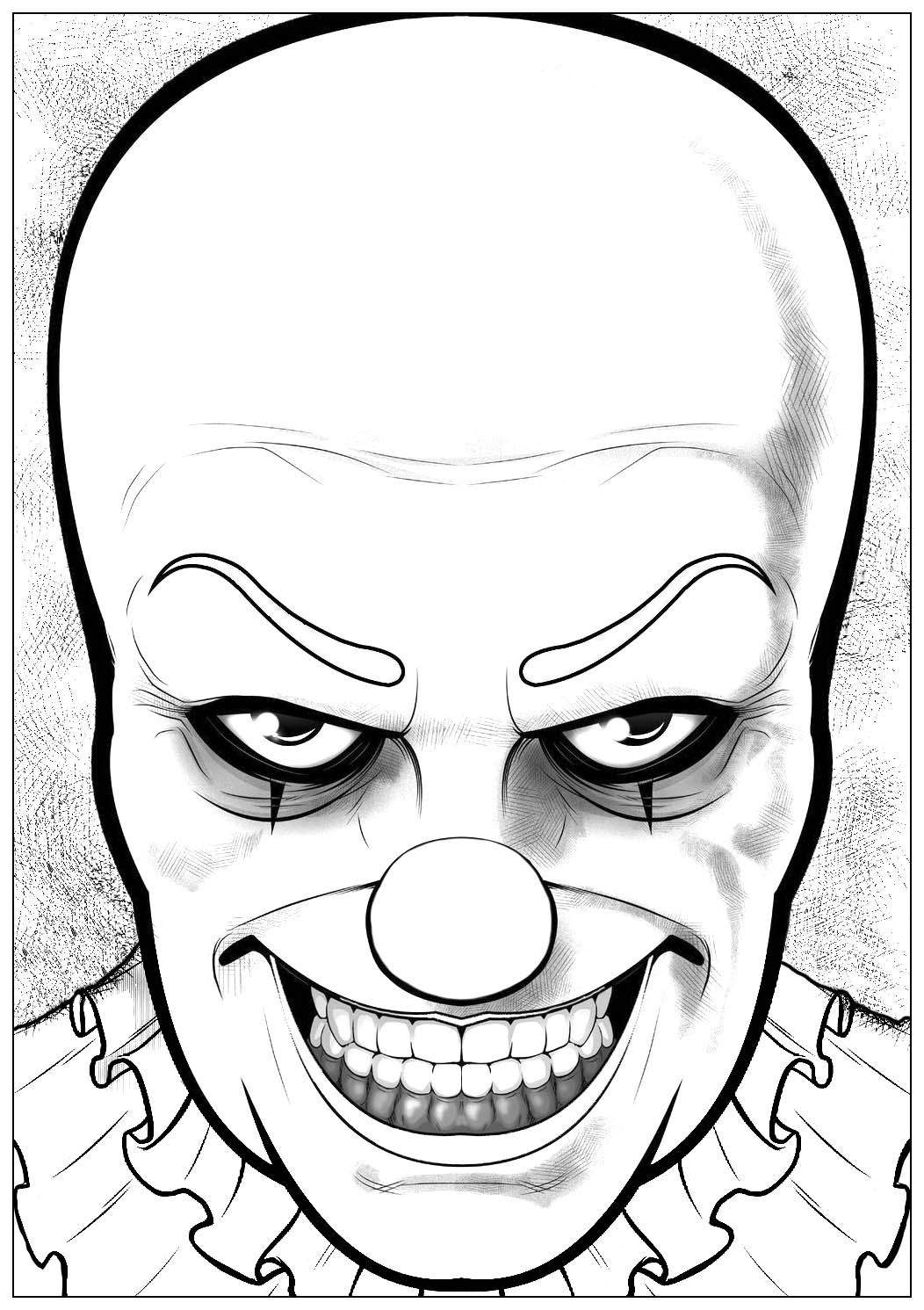 Would You Dare To Color This Horrible Pennywise The Clown