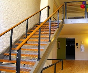Cable Railings Stair Railing Kits Modern Stairs Modern