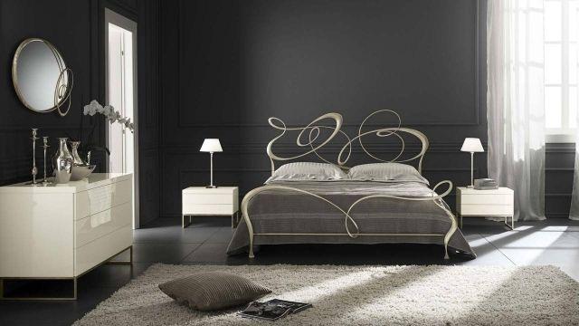 t te de lit originale en fer forg 30 id es inspirantes fer forg tete de et en t te. Black Bedroom Furniture Sets. Home Design Ideas