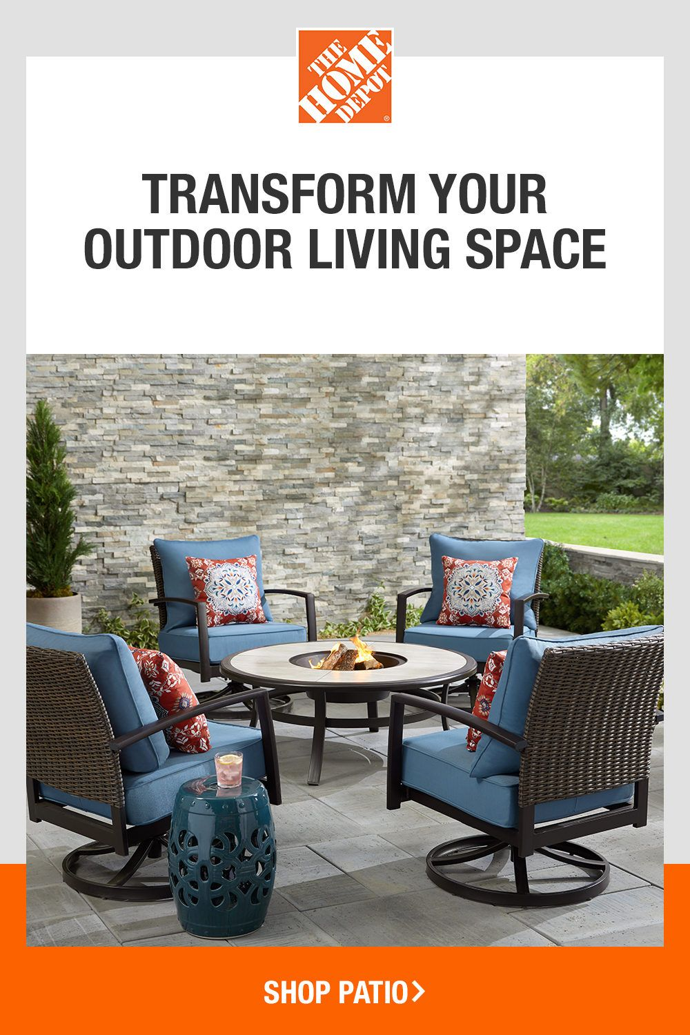home depot outdoor chairs on transform your outdoor living space outdoor living outdoor outdoor living space transform your outdoor living space