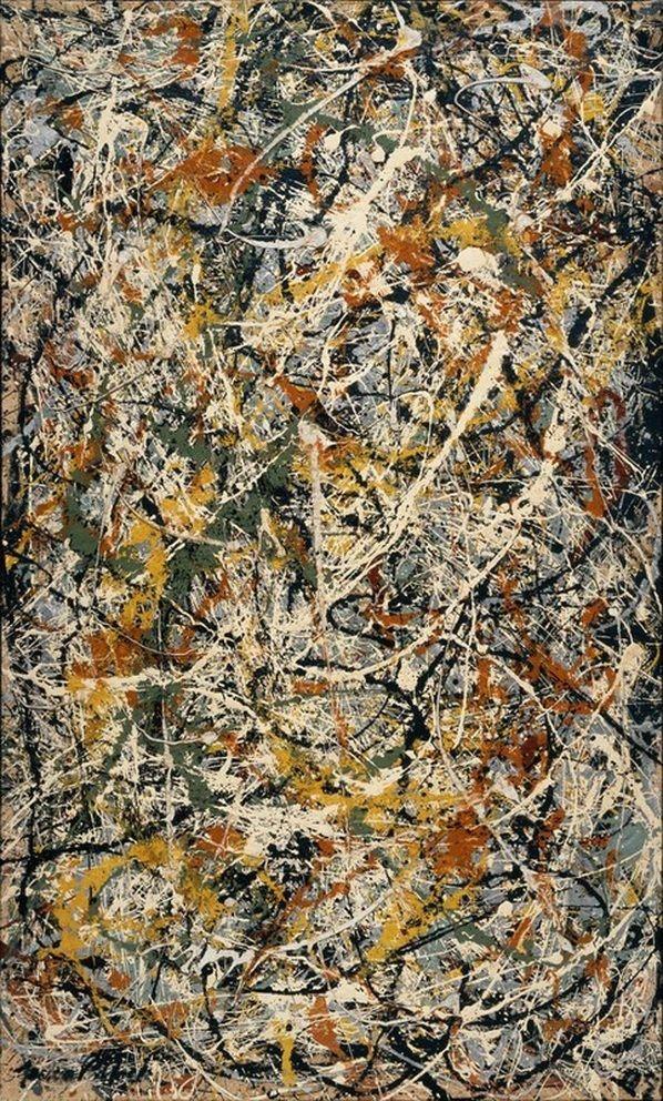 Art — lonequixote Number 3 by Jackson Pollock via