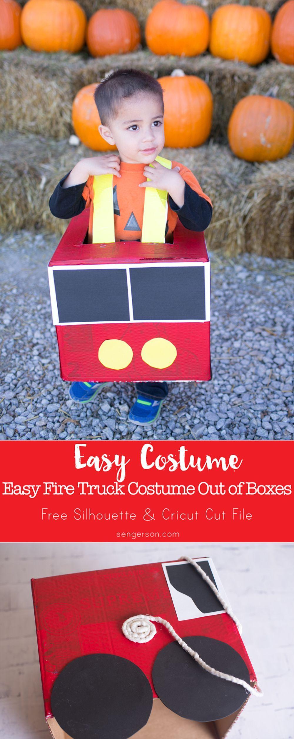 DIY Fire Truck Costume Fire trucks, Truck crafts, Fire