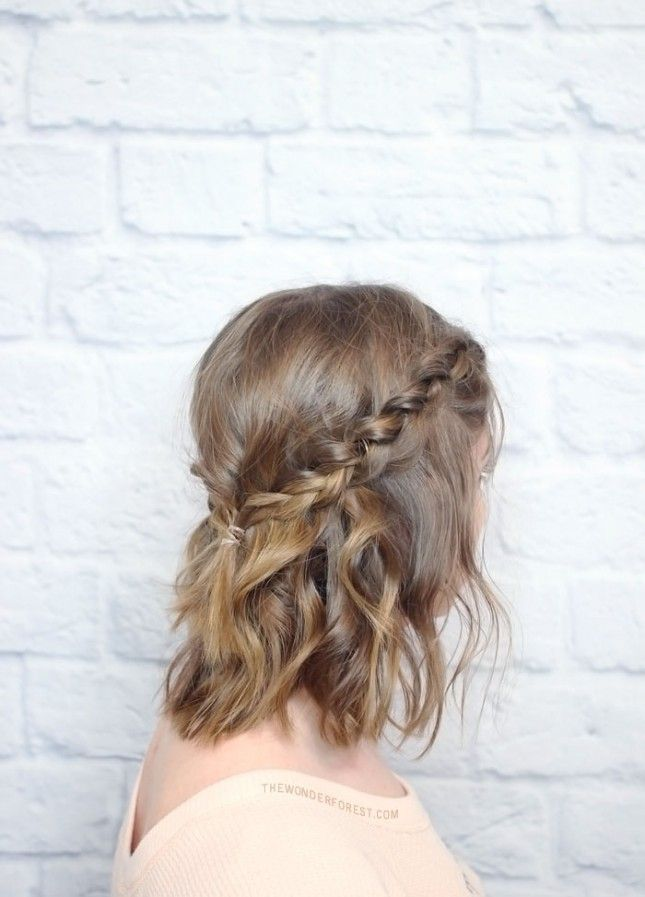 16 5 Minute Braids Even Lazy Girls Can Fit In Before Work Braids For Short Hair Hair Styles Hair Romance