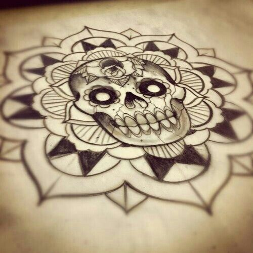 Sugar Skull Mandala Tattoo Mandala Tattoo Design Mandala Tattoo Tattoo Sketches