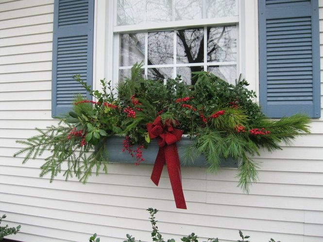 Holiday Window Box For The Home Pinterest Christmas Window Decorations Winter Window Boxes Christmas Lanterns