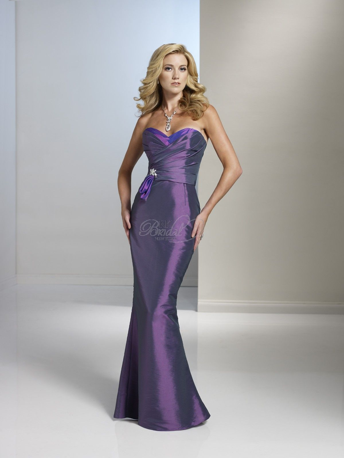 Lilac dress for wedding  Regal purple bridesmaid dress from RK Bridal NYC  vestidos de