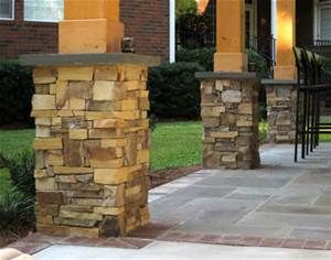 Rock Skirt Base For Front Porch Cedar Columns Bing Images