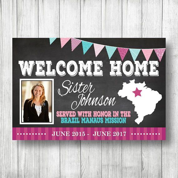 printed vinyl banner missionary homecoming banner welcome home elder sister banner lds mission