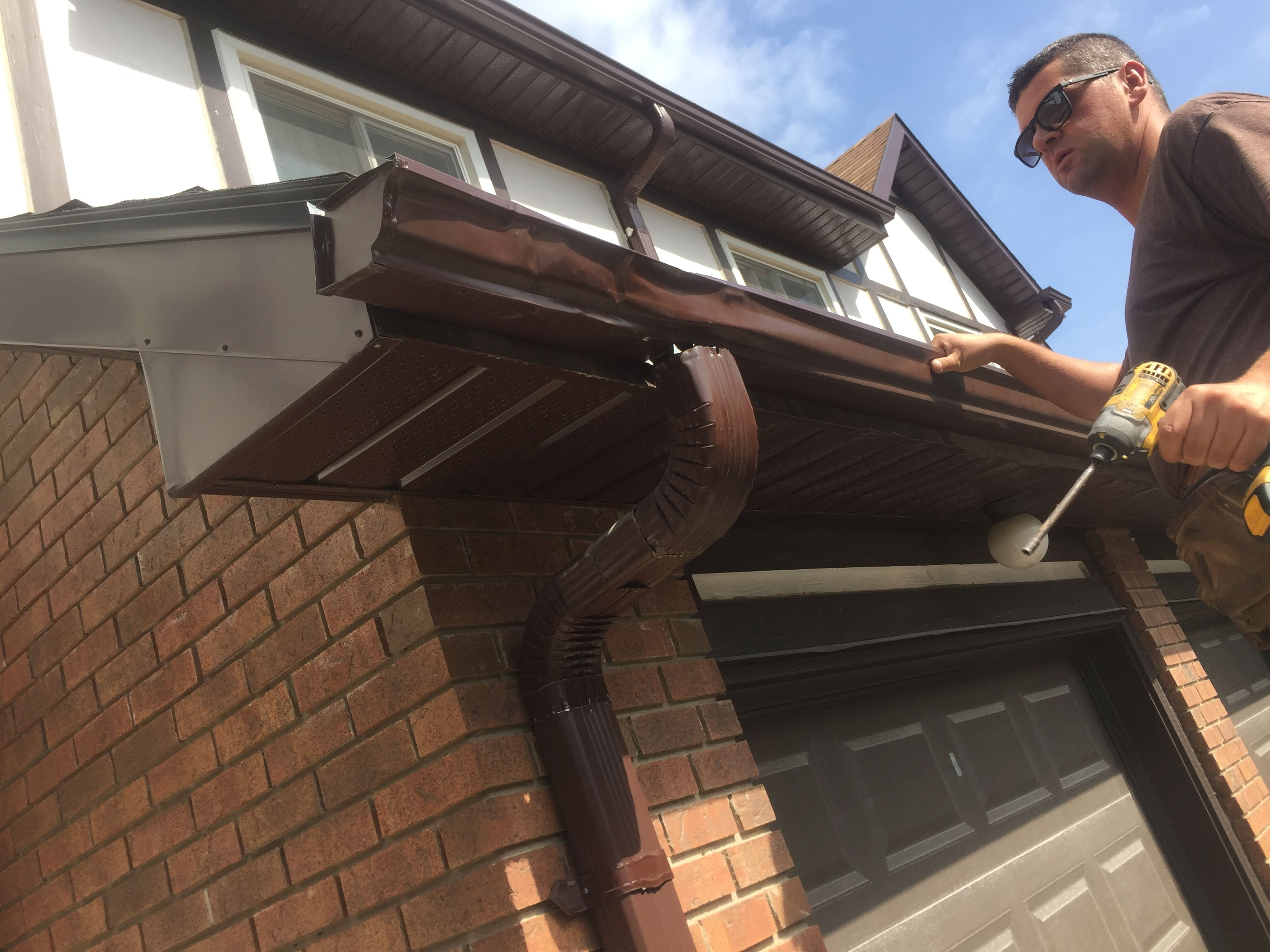 Damaged Gutters Gutters House System Types Of Houses