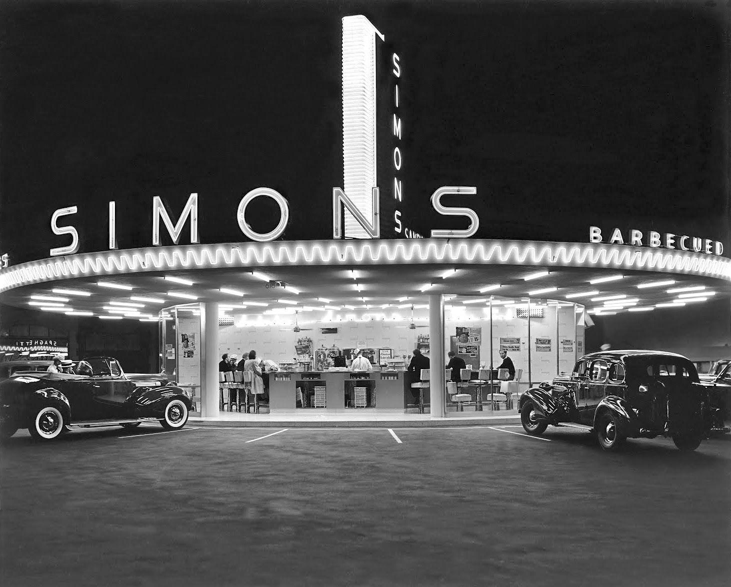 Simon S Drive In Restaurant On Wilshire Boulevard