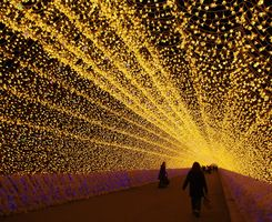 reminds me of Kostroma-- new year's lights.