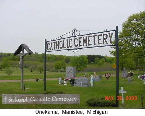 St. Joseph Catholic Cemetery Headstones, Onekama Township, Manistee County, Michigan