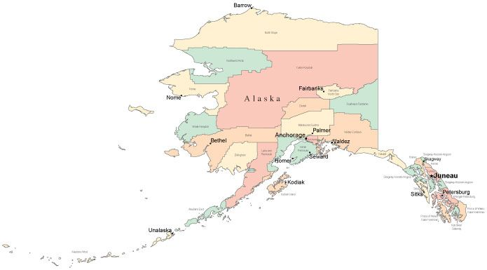 Juneau Strees Alaska City Map Alaska With Cities Alaska Map Juneau Alaska Alaska