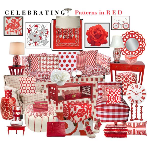 Celebrating Patterns in RED by aprimmdesign on Polyvore featuring polyvore, interior, interiors, interior design, home, home decor, interior decorating, Moooi, World Market, Bungalow 5, Currey & Company, Dash & Albert, Steel Life, Marimekko, Alessi, West Elm, Basset Mirror Company, Allem Studio, Eichholtz, New Growth Designs, Elisabeth Michael, Trina Turk LA, Carlo Moretti, DENY Designs, Jonathan Adler, Dot & Bo, Artgoodies, Alexander McQueen, Yves Saint Laurent, Yazbukey and Caron
