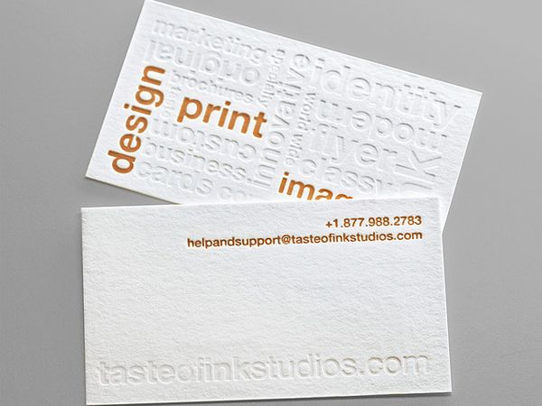 Letterpress Business Card Letterpress Business Cards Google Business Card Printing Techniques