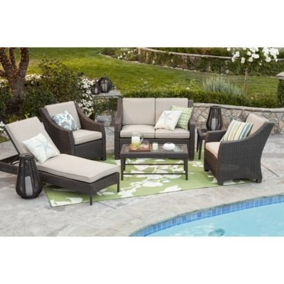 Threshold™ Belvedere Wicker Patio Conversation Furniture Collection   Tan  At Target...Patio