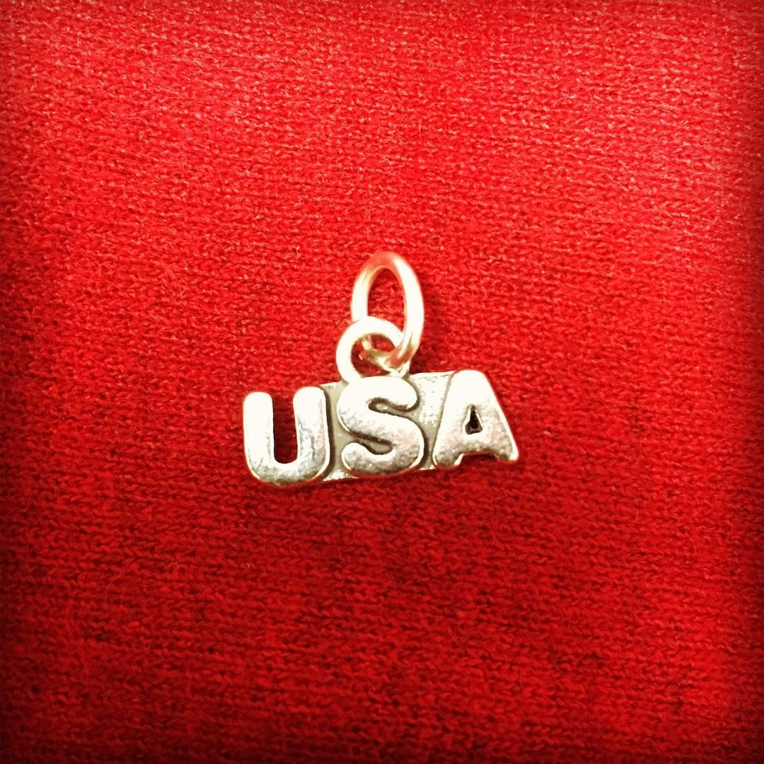 With the Olympics coming up are you Team USA? If so show your support with this Sterling Silver USA Charm.