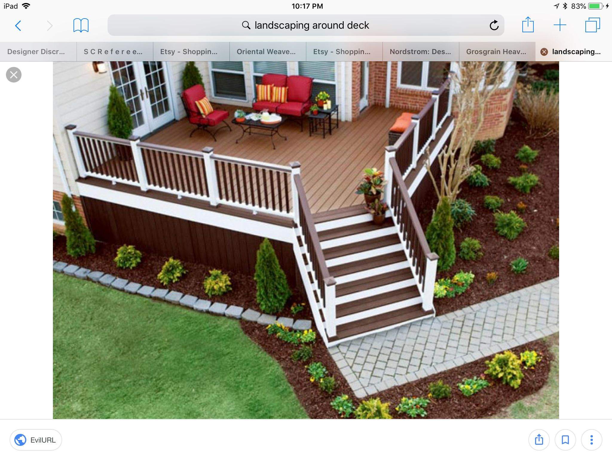 Pin By Tracy Mccurry On Landscaping Deck Landscaping Deck Decorating Decks Backyard