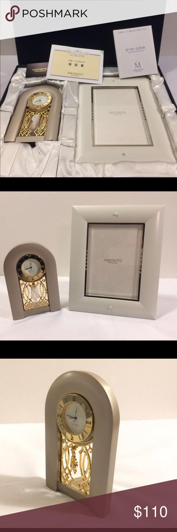 MIKIMOTO Art quartz Clock & Picture Frame New   Baby pearls, Pearls ...