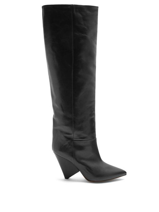 New Concept Marni Knee Boots Chocolate Patent leather
