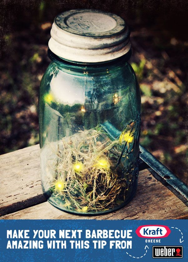When the sun sets, use mason jars to capture fireflies and create your own tabletop light show...this is right up my alley! #crafting