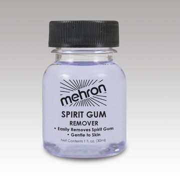 Mehron Spirit Gum Remover #gumremoval Mehron has formulated this Spirit Gum Remover to be gentler on your skin than other gum removers. Spirit Gum Remover by Mehron is a specially developed solvent to gently remove makeup adhesives such as Spirit Gumfrom skin. Mehron's Spirit Gum Remover is used throughout the Performance Industry because Performers recognize the safe effective formula of Mehron's Spirit Gum Remover will not damage the skin.