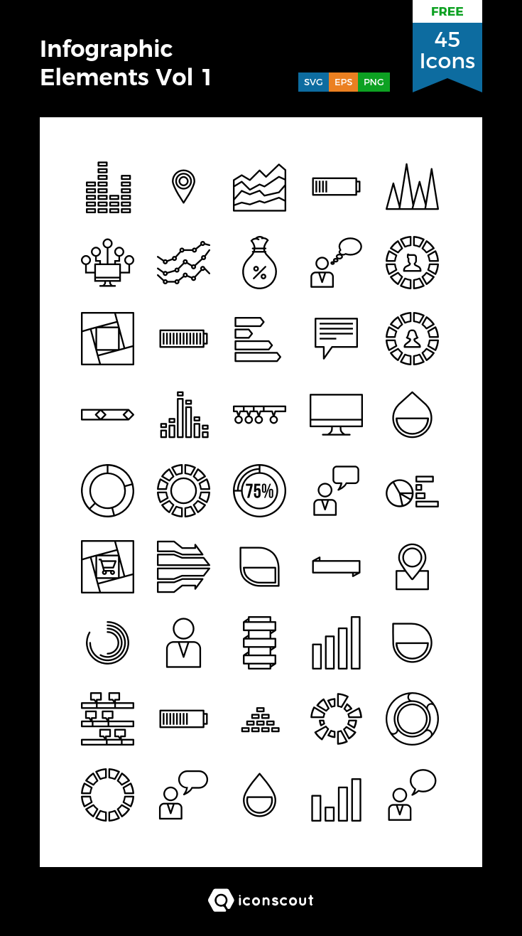 Infographic Elements Vol 1 Free Icon Pack 45 Pixel