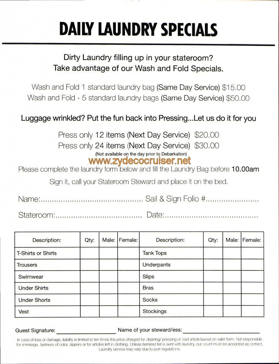 I Wont Be Doin No Laundry For 7 Days Carnival Conquest