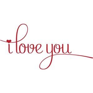 Silhouette Design Store - View Design #24960: i love you
