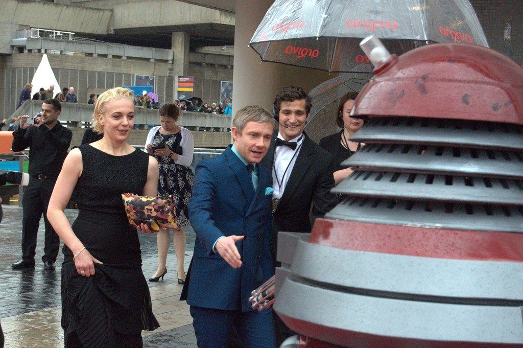 worlds collided..  Watson & a Dalek!