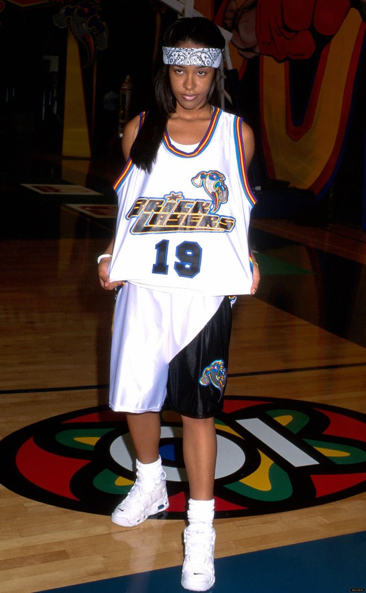 Aaliyah 19 Bricklayers Basketball Jersey Sixth Annual Rock N  Jock B ... 594712c52a