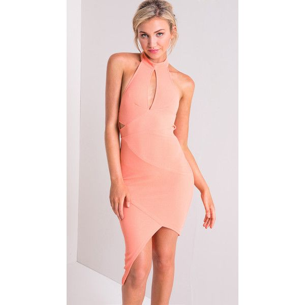 Uncovered Bodycon Dress ❤ liked on Polyvore featuring dresses, body conscious dress, body con dress, red body con dress, bodycon dress and red bodycon dress