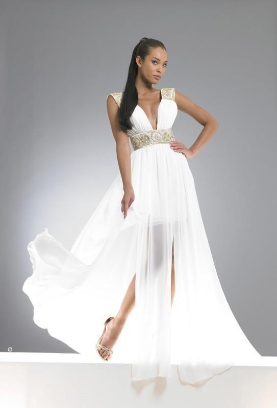 2020 Nisan Elbiseleri Beyaz Uzun Derin V Yakali Klos Etekli The Dress Uzun Elbise Moda Stilleri