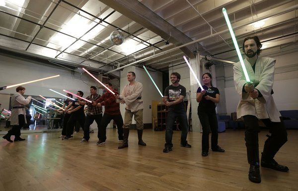 'Star Wars' fans become Jedi padawans at lightsaber school