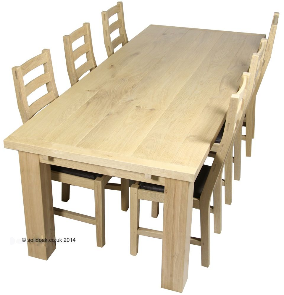 Solid Oak Table Great Chunky