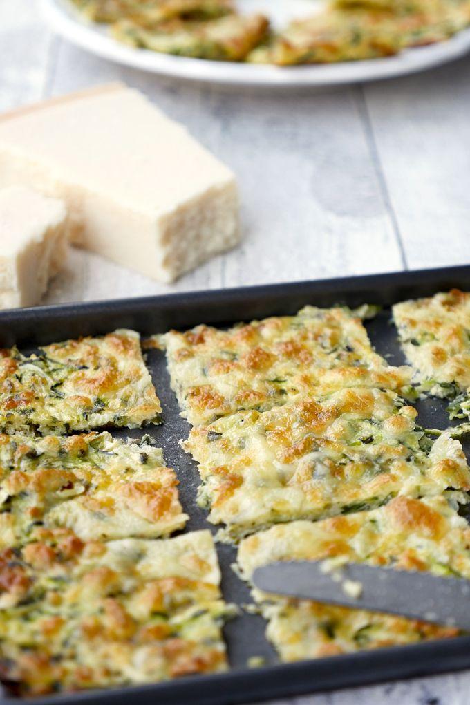 Low Carb Zucchinisticks mit einem Teig aus Zucchini und Käse #lowcarbveggies