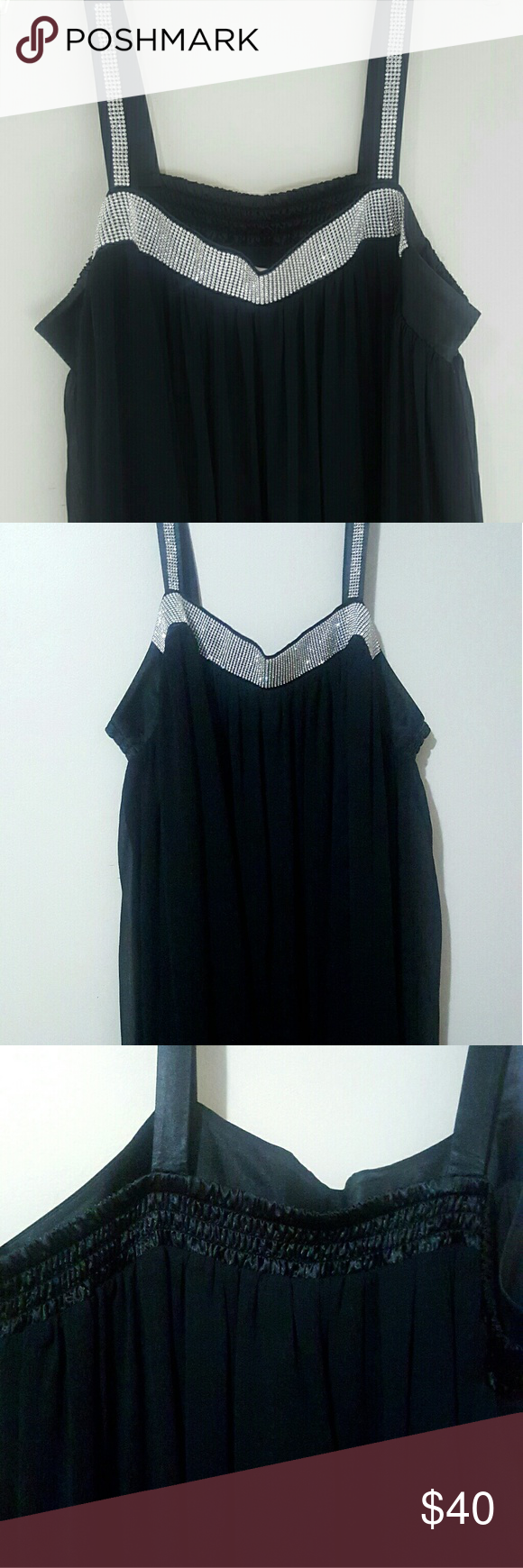 Roamanus wide strap black flowy dress poshmark closet name